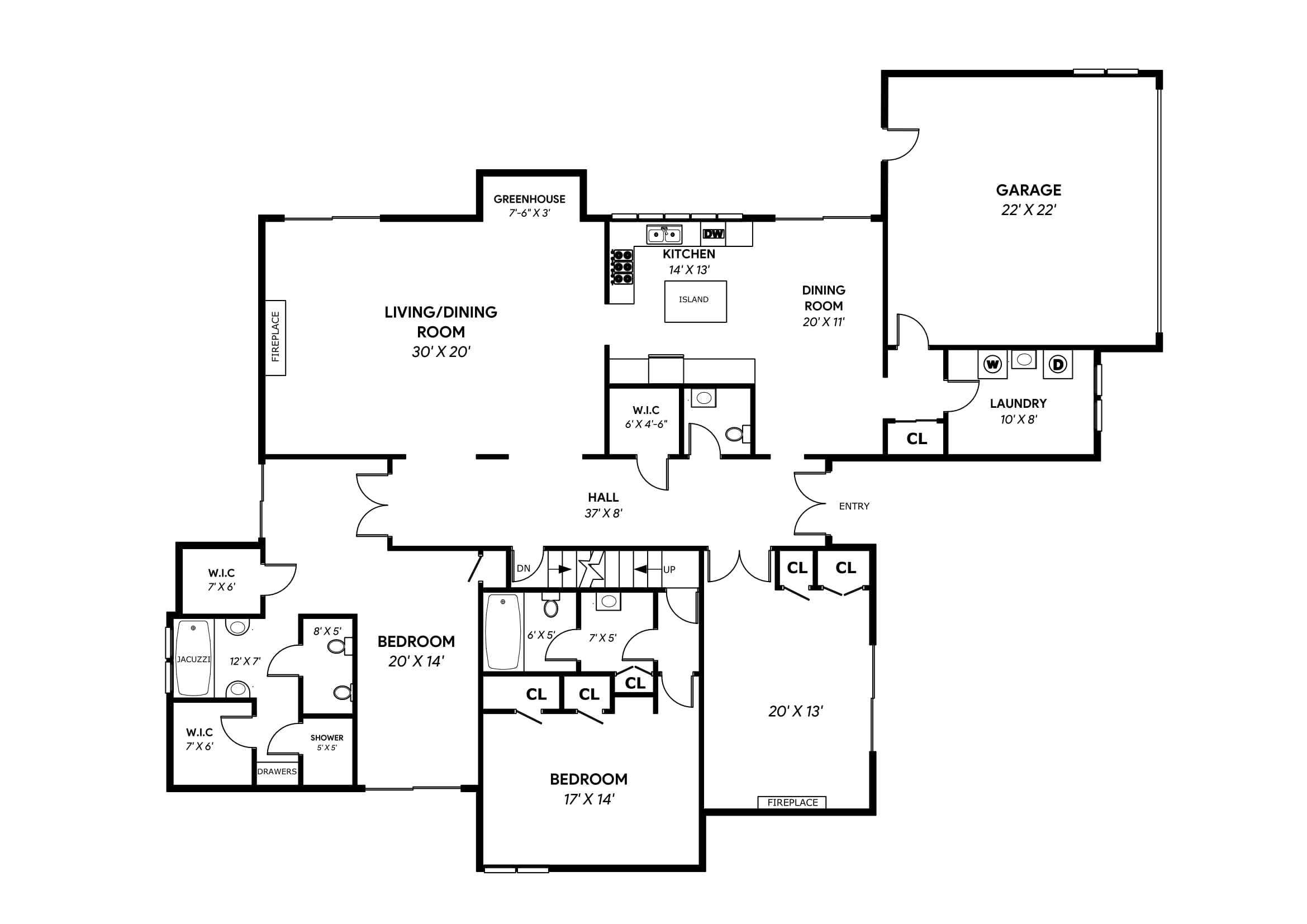 Floor Plan Redraws
